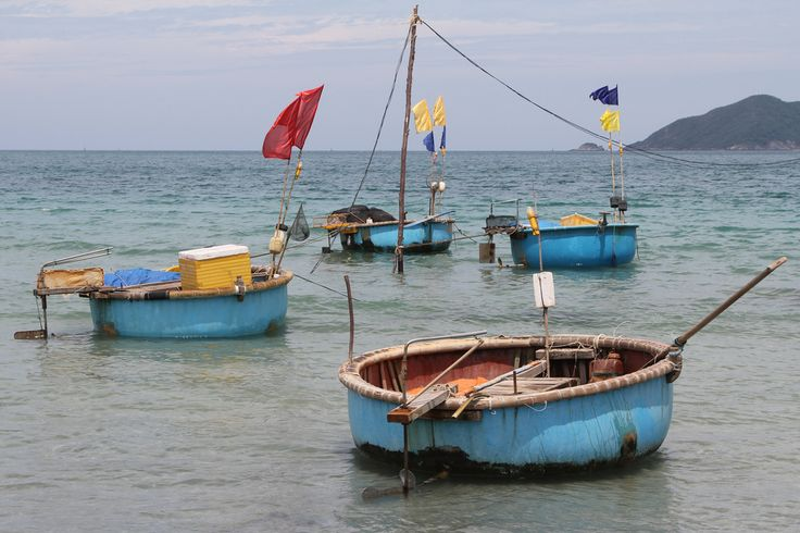 Coracles in the sea by Raphael Bick on Flickr - Ca Mau, Vietnam