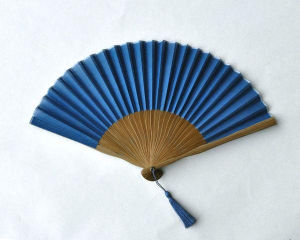 藍染 扇子 藍【楽ギフ_包装】【楽ギフ_のし】upup7【楽天市場】