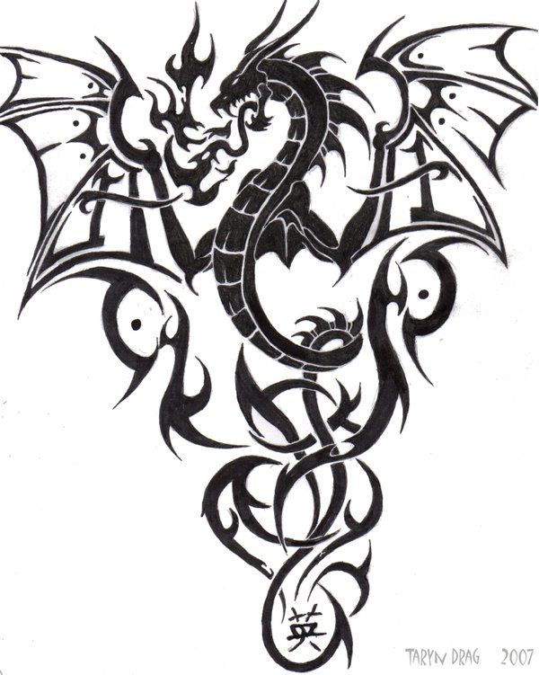 the 23 best japanese dragon tribal tattoo images on pinterest dragon tattoo designs tribal. Black Bedroom Furniture Sets. Home Design Ideas