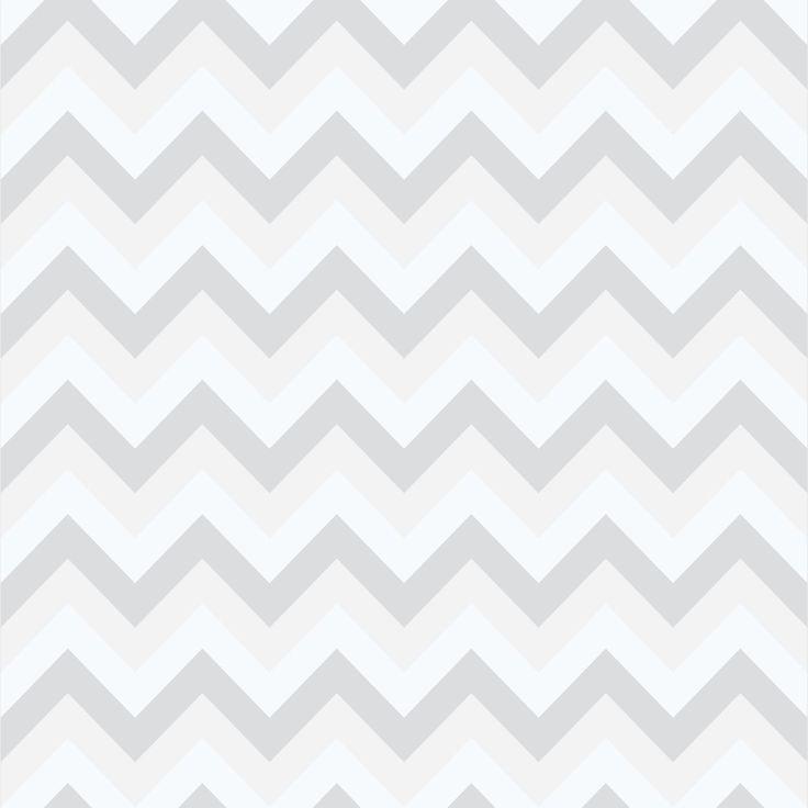 Papel de parede com estampa Chevron, modelo Candy, em tons cinza claro, cinza escuro e branco, com faixa de aproximadamente 3 cm.    - Tamanho: 1 Rolo de 3m (altura) X 50cm (largura).  - Área de Cobertura: 1,5m²    - É de extrema importância que o cliente saiba a metragem do local antes de adquir...
