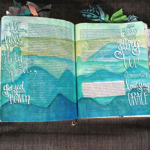 Bible Journaling by Christina Lowery @christinasalive | Acts 7