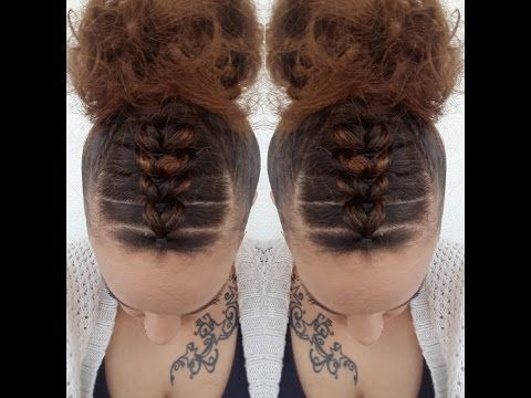 Quot Goddess Bun With Small And Big Braids Quot By Styles By Jazae