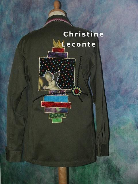 customisation de ma veste militaire. inspiration d'un sketch scrap. collection personnelle