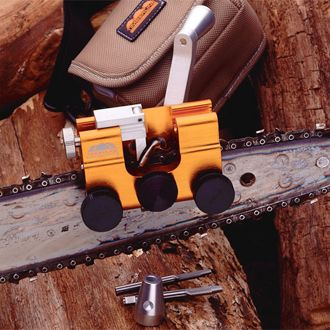 Professional Manual Chainsaw Sharpener.  When power is not an available option