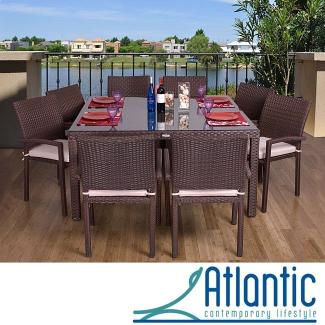 Atlantic Grand Liberty Outdoor Square 9-piece Dining Set