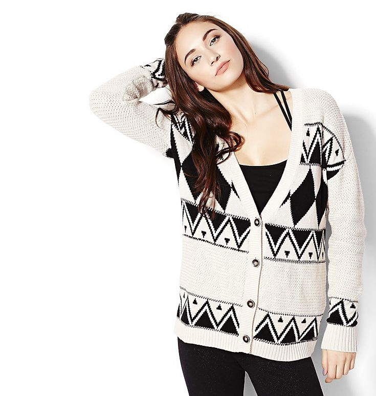 True or False: An over-sized tribal #cardigan from @Garage Clothing is a girls best friend during this time of year?
