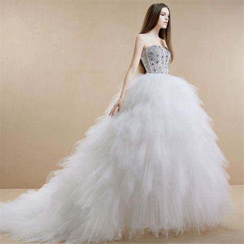 2014-New-White-Ivory-Sweetheart-Ball-Gown-Wedding-Dress-Custom-All-Size