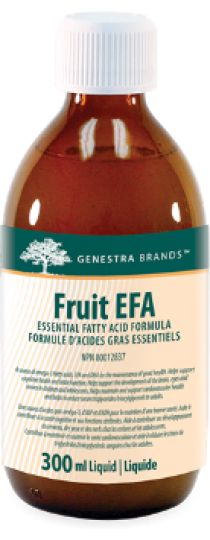 Fruit EFA by Genestra - is a unique fruit-flavored, emulsified preparation of eicosapentaenoic acid (EPA) and docosahexaenoic acid (DHA) from anchovy and sardine which are essential for cardiovascular and cognitive health.