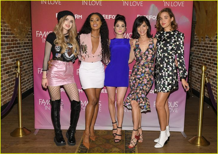 The women of 'Famous in Love' looking fab at the premiere~ Bella Thorne is rockin our Demonia Hellraiser Lace Up Boots: http://www.dollskill.com/hellraizer & Slipstream Fishnet Bodystocking!! http://www.dollskill.com/long-sleeve-fishnet-bodystocking.html