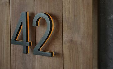 "Illuminated Bronze House Numbers 8"" - Outdoor Backlit Signs modern house numbers"