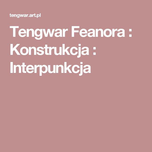 Tengwar Feanora : Konstrukcja : Interpunkcja