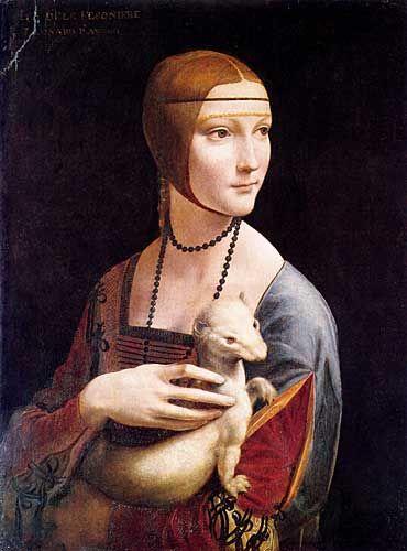 Leonardo Da Vinci Cecilia Gallerani Portresi (Erminli Kadın)