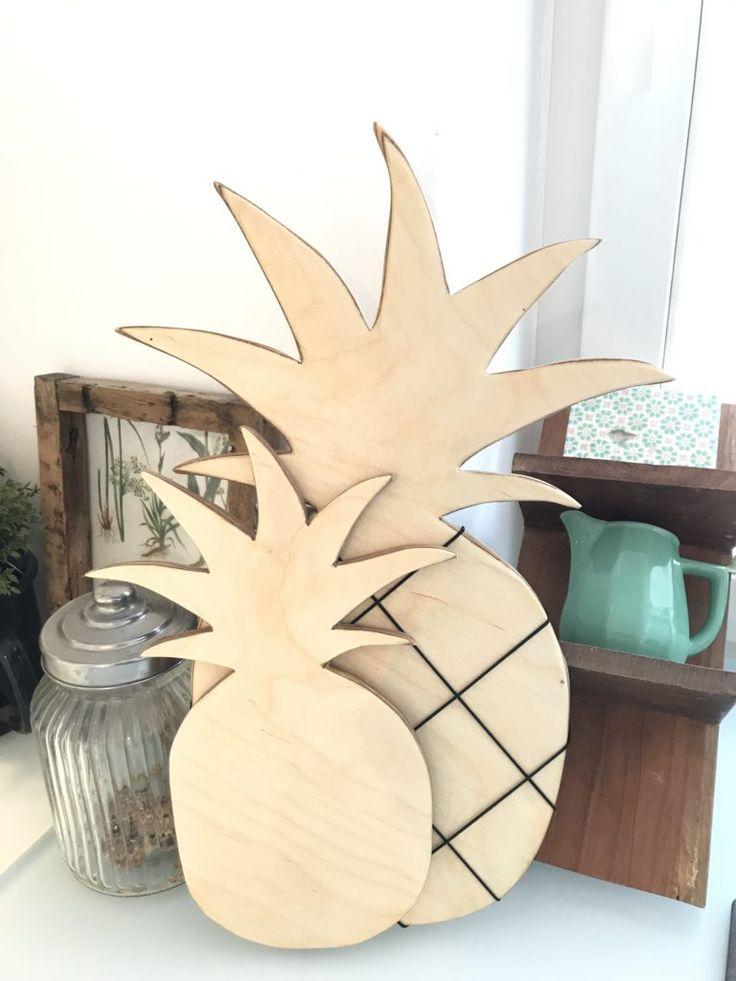 DIY: Ananas Holzbrett und Memoboard