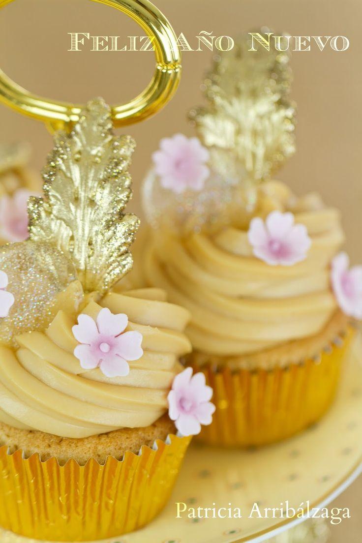Caramel mascarpone cupcakes / Cupcakes de mascarpone de caramelo