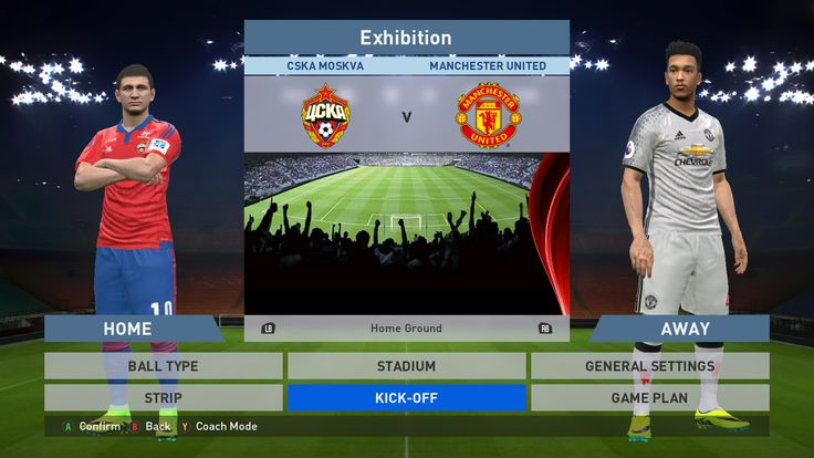 CSKA Moskva vs Manchester United, VEB Arena, PES 2016, PRO EVOLUTION SOCCER 2016, Konami, PC GAMEPLAY, PCGAMEPLAY