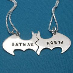 Best friend necklaces/ Batman and Robin
