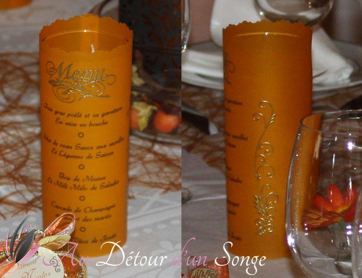 78+ images about Décoration de mariage. Orange, blanc et or, thème ...