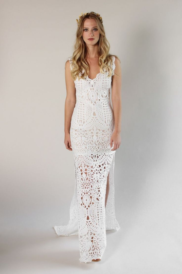 The 25 best crochet wedding dresses ideas on pinterest unique romantique by claire pettibone spring 2017 wedding dresses junglespirit Images