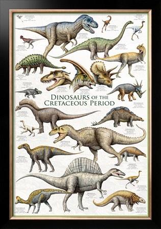 Dinosaurs - Cretaceous Period Framed Art Print