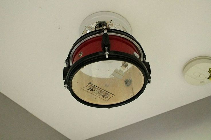 This DIY drum light shade is perfect for a budding musician's room.