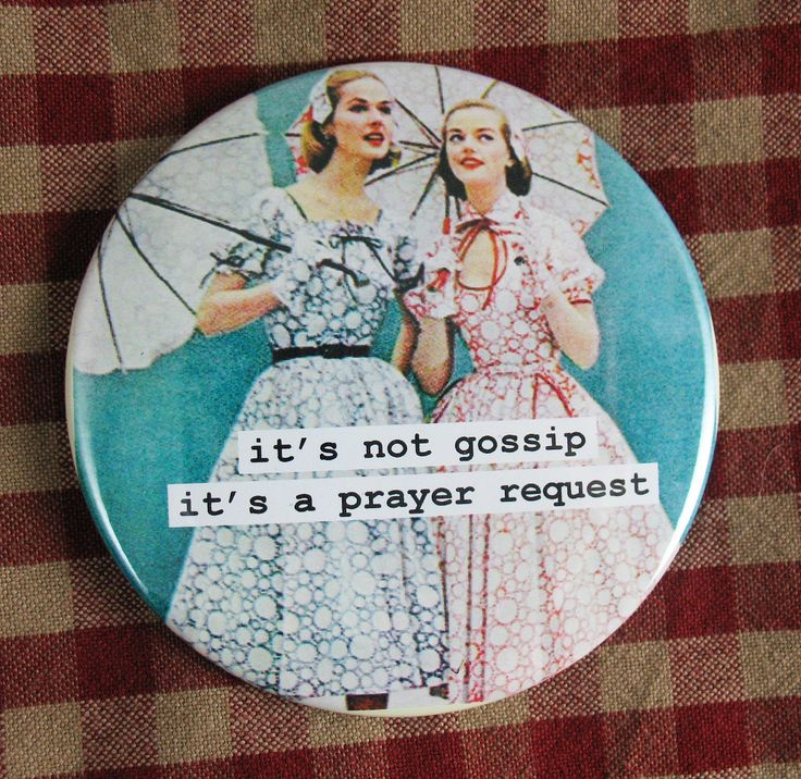 Funny magnet. It's not gossip it's a prayer by picardcreative, $4.75