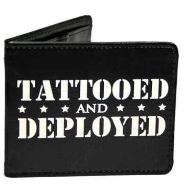 """Tattooed and Deployed"" Wallet by Steadfast Brand (Black) #inkedshop #tattooed #deployed #army #military #wallet"