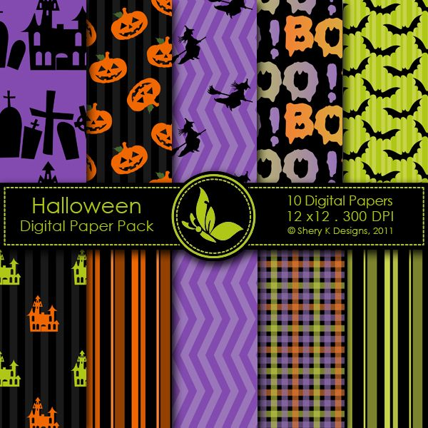 Halloween - 10 Digital papers http://www.mygrafico.com/freebies/halloween-10-digital-papers/prod_5565.html