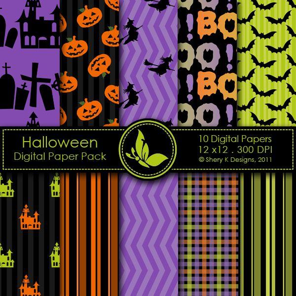 Halloween - 10 Digital papers http://www.mygrafico.com/freebies/halloween-10-digital-papers/prod_5565.html