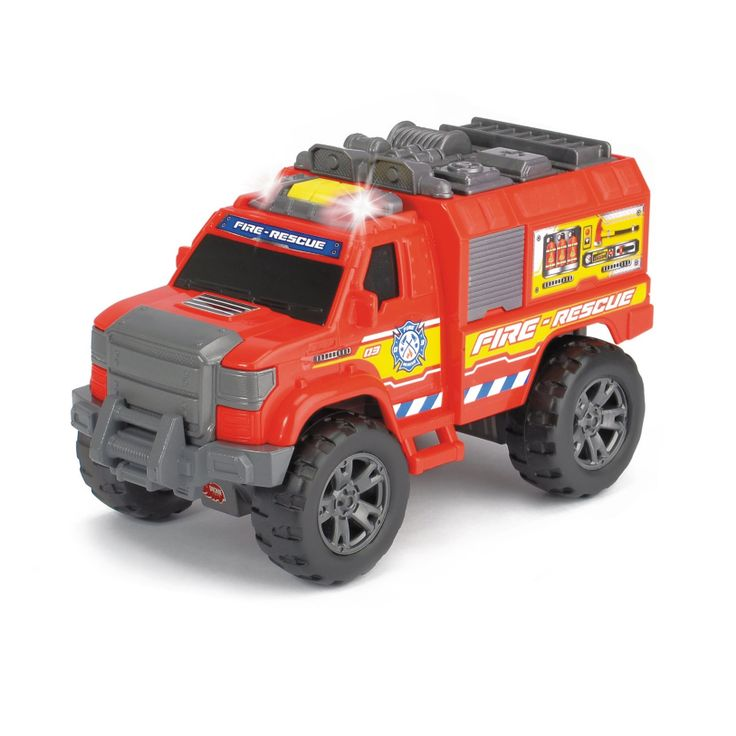 Light and Sound Motorized Fire Rescue Vehicle