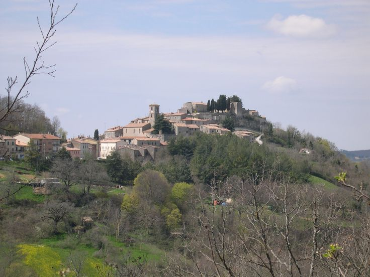 Semproniano a medieval village in Maremma. By the road.