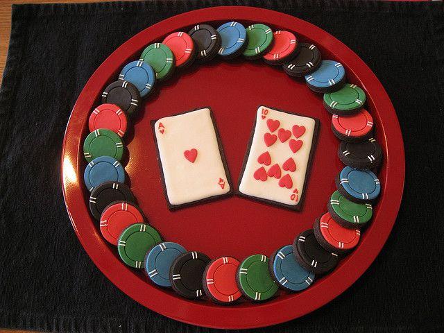 Poker cookie cake
