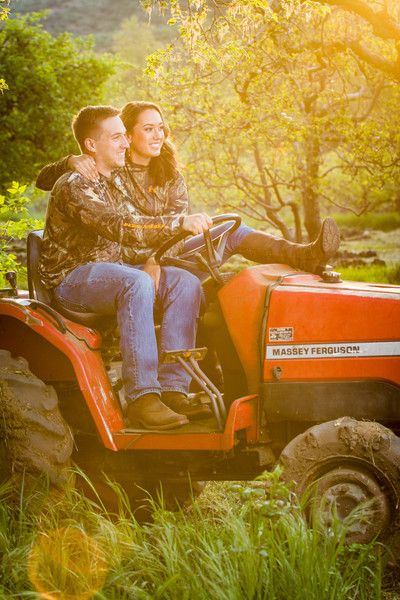 Country engagement pictures - camo - hunting - outdoors - duck hunting - tractor