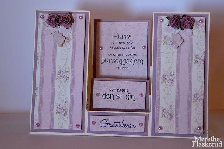 Merethe Flaskerud: Bursdags kort i lilla