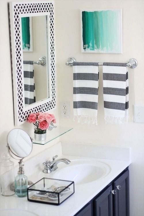 Striped hand towels.