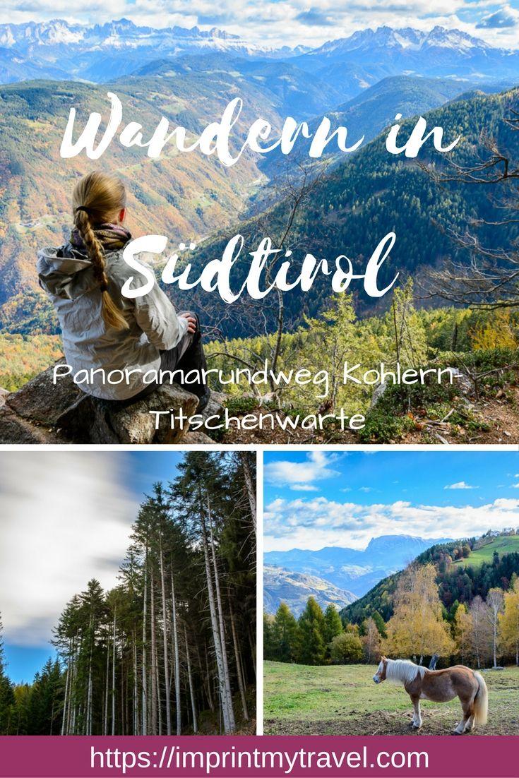 Wandern in Südtirol: Panoramarundweg Kohlern Titschenwarte mit Traumausblick auf die Dolomiten. Aktivitäten für ein langes Wochenende in Norditalien.