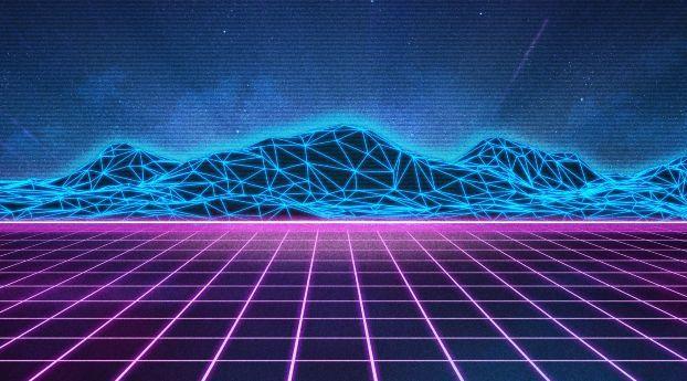 Retro Wave Retro Waves Waves Wallpaper Retro Background