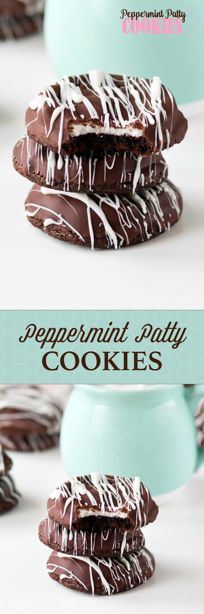 Peppermint Patty Cookies -- love these stashed in the freezer!