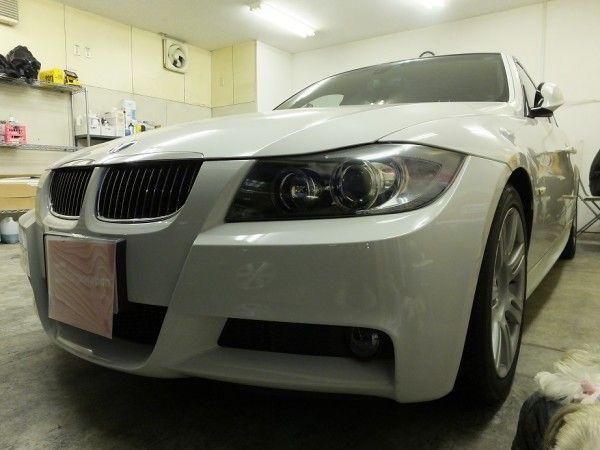 BMW 3シリーズ 赤外線カット 断熱フィルム シルフィード カーフィルム 施工