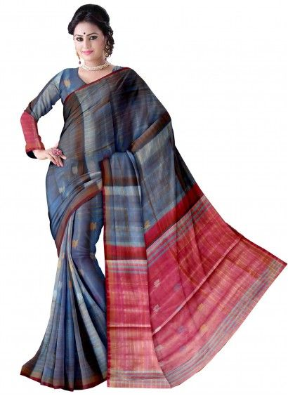 Ananda Blue Uppada Handloom Silk Saree with Running Pallu Color Blouse Product code: UHSUP7S143 Retail price: 5,798/- Sale price : 5,522/-