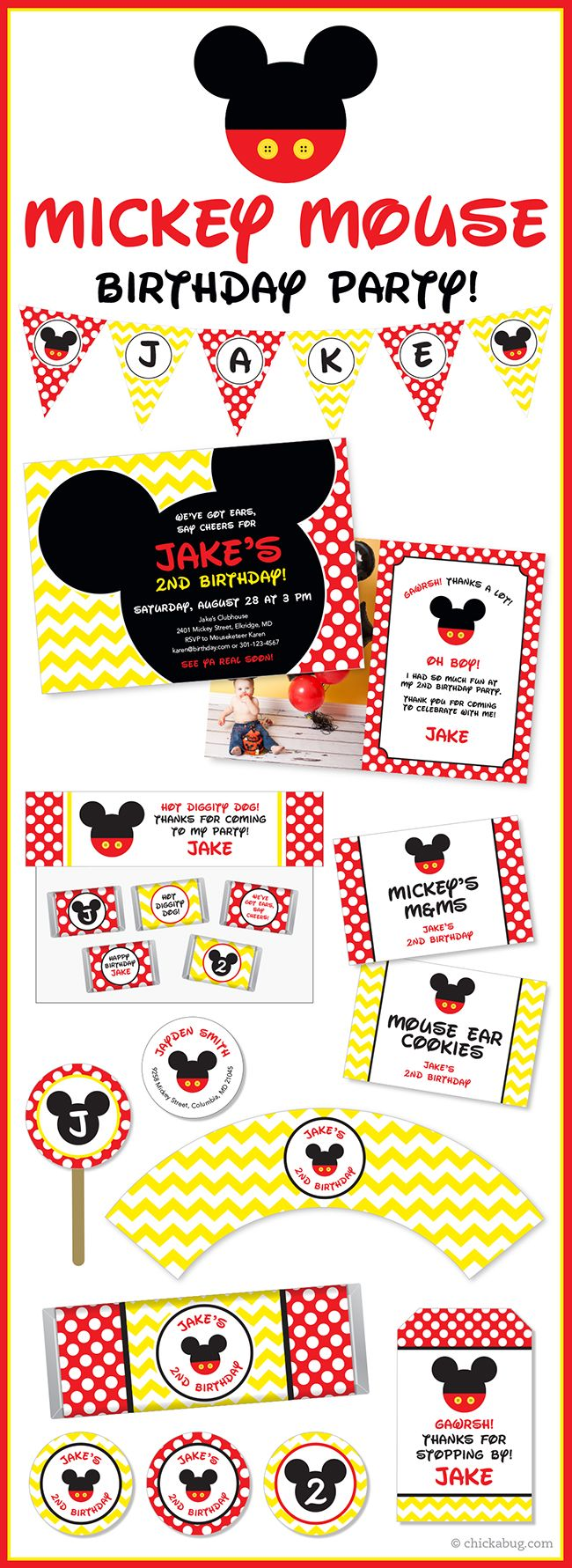 164 best Mickey or Minnie Party images on Pinterest | Mice, Favors ...