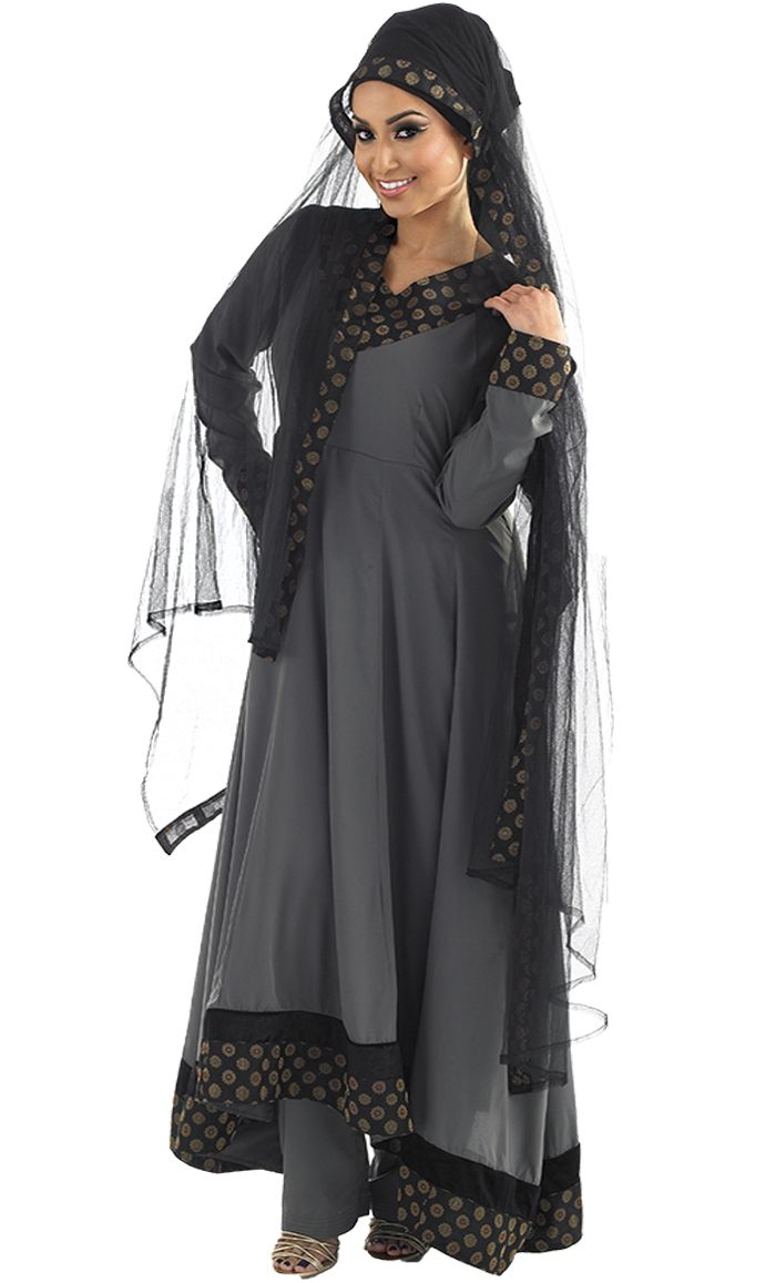 From East Essence, extra-long Salwar Kameez, a bunch of styles all around $50.00 for all three pieces (dress, pants, scarf) up to size 3X.