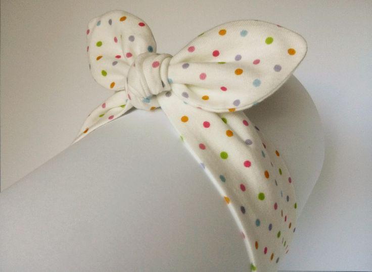 Opaska bawełnia pin-up dla Małej Królewny - MadebyKaza - Opaski dla niemowląt