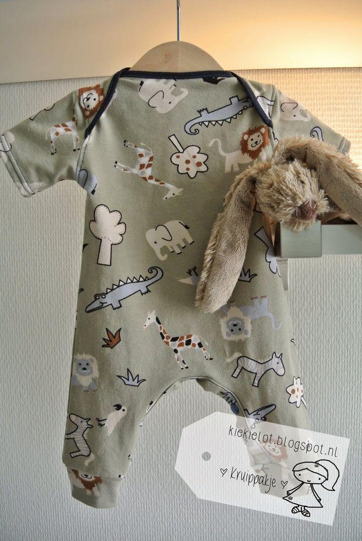 kruippakje patroon Kiind. Tricot, baby, naaien, diy http://kiekielot.blogspot.nl