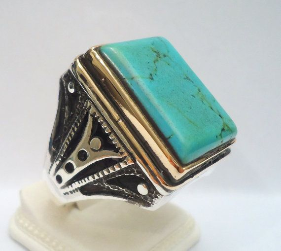 925 sterling silver s ring with turquoise by