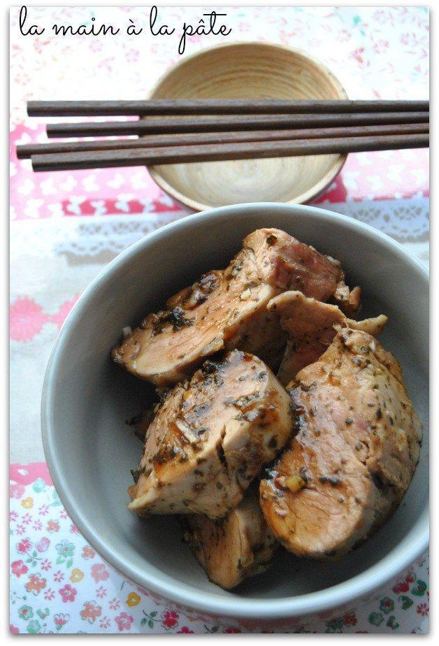 Filet mignon de porc au miel et au gingembre