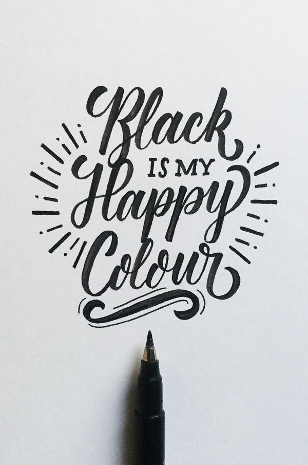 Lettering by Colin TierneyMedium used: Tombow Fudenosuke Brush Pen - Soft - Black Body