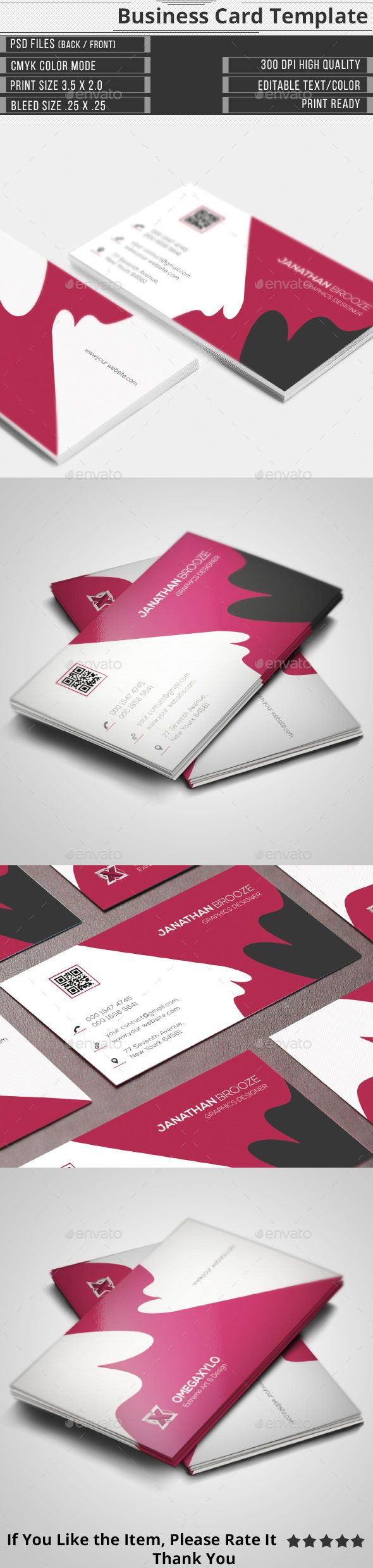 34 best business cards images on pinterest business card design elegant corporate business card reheart Gallery