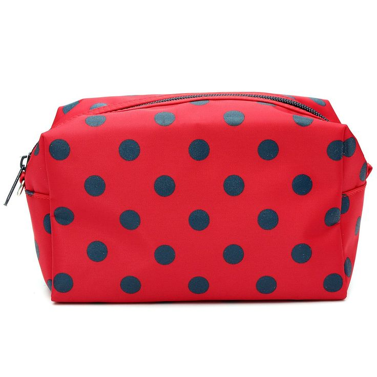 Cosmetic/Make-Up/Organizer Bag Pouch Zipper Hand Case red