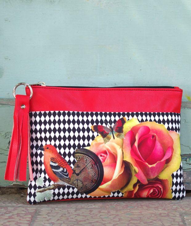 Φάκελος με prints λουλούδια - ARTonomous // Style // Design