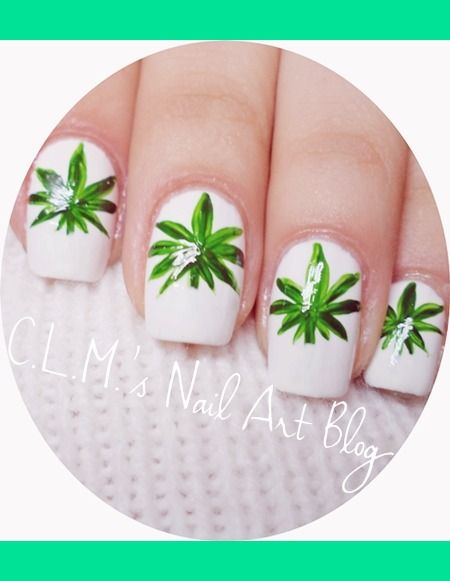 Weed Nail Art Monica L S Photo Beautylish Icans Fashions Pinterest Nails And